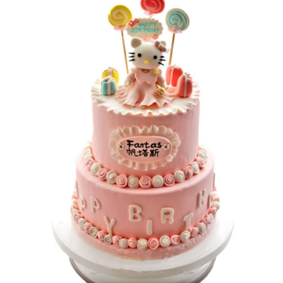 恩县蛋糕店-翻糖蛋糕 红烛当杯