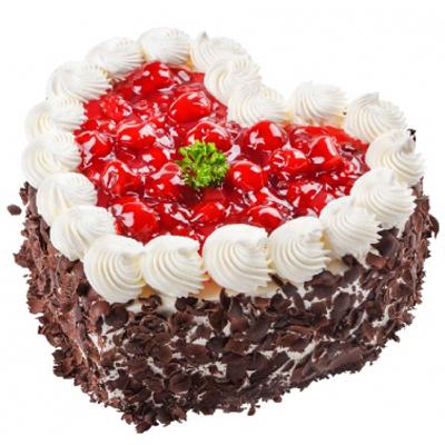 国庆节鲜花                                                                                          鲜花网:心型水果蛋糕