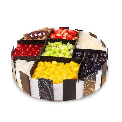 黑森林蛋糕                                                                                          鲜花网:缤纷盛果