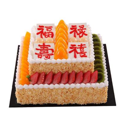 常德生日蛋糕:福禄寿喜