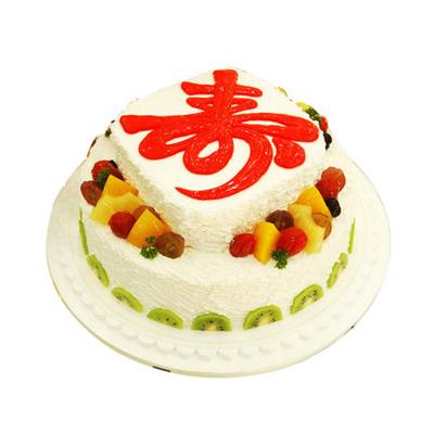 蛋糕订制                                                                                            鲜花网:祝寿