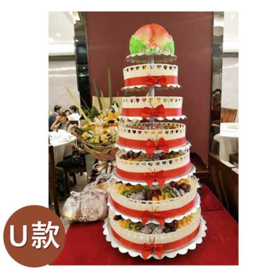 香港鲜花网:7层祝寿蛋糕