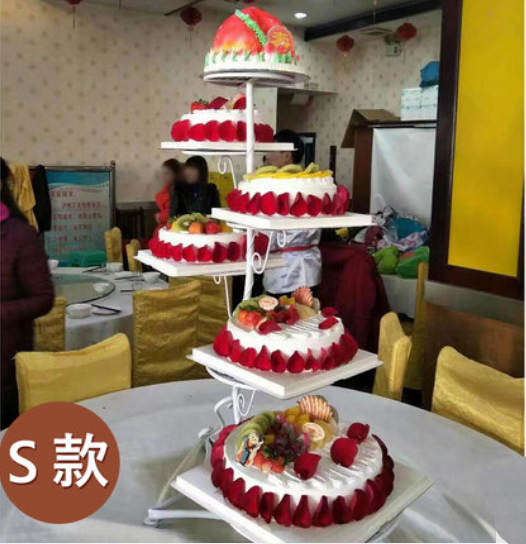 香港鲜花网:6层祝寿蛋糕