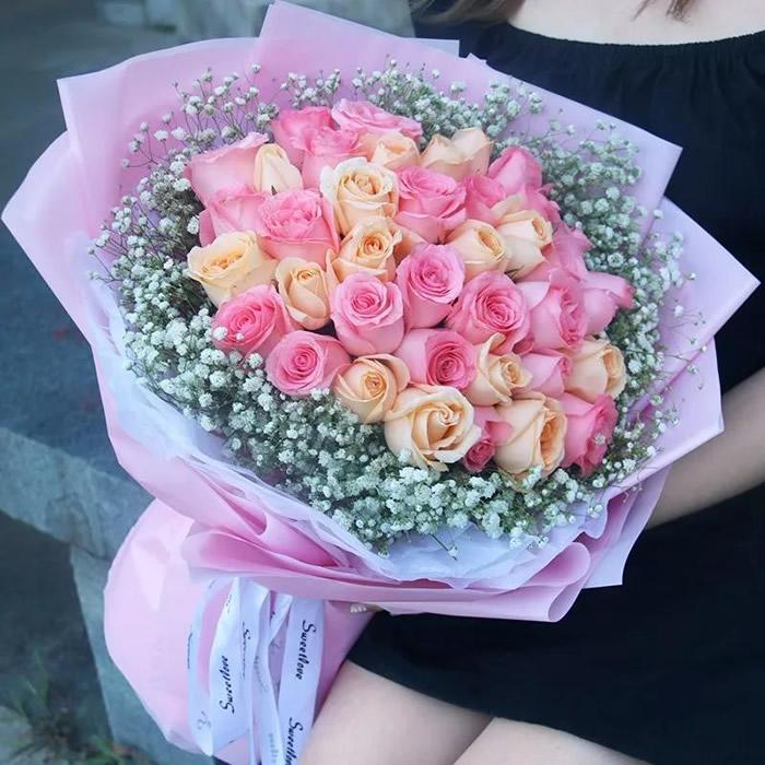 韩国鲜花:想念你的时候