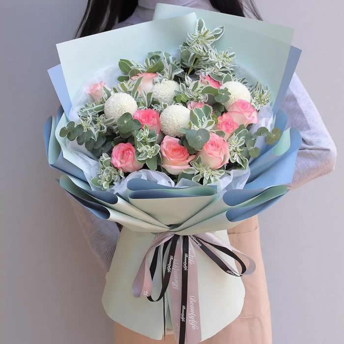 中秋节礼物                                                                                          鲜花网:想你在远方